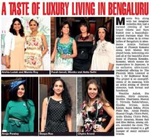 A Taste of Luxury Living in Bangalore - Bangalore Times as name of newspaper