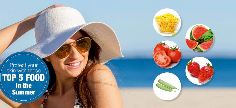 Protect your skin with these top 5 food in the Summer