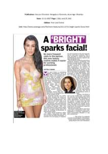A Bright Sparks facial - Deccan Chronicle