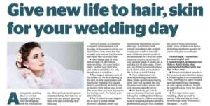 Give new life to hair, skin for your wedding day