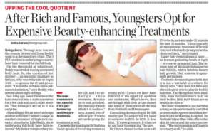 After rich and famous, youngsters Opt for Expensive Beauty-enhancing Treatments - The Economics Times