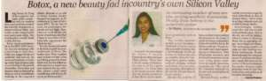 Botox, a new beauty fad incountry's own Silicon Valley. - Bangalore Times