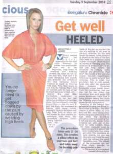Get Well Heeled - Deccan Chronicle , Bangalore Chronicle.