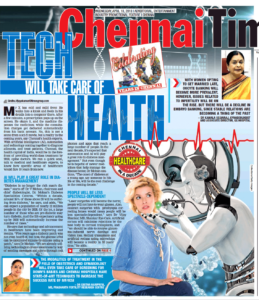 Tach will take care of health - The Times of India (Chennai Times)