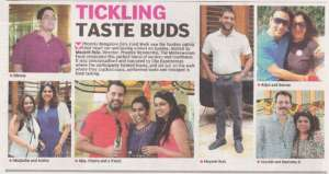 Tickling Taste Buds - Deccan Chronicle , Bangalore Chronicle.