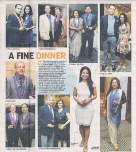 A fine Dinner - Deccan Chronicle , Bangalore Chronicle.