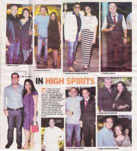 In High Spirits - Deccan Chronicle , Bangalore Chronicle.