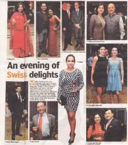 A Evening of Swiss Delights - Deccan Chronicle , Bangalore Chronicle.