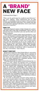A brand new face - Deccan Chronicle , Bangalore Chronicle.