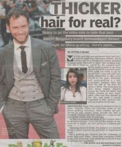 Thicker hair for real - Deccan Chronicle , Bangalore Chronicle.