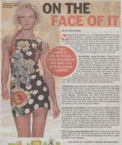 On The Face Of It - Deccan Chronicle , Bangalore Chronicle.