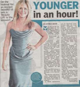 YOUNGER in an hour! - Deccan Chronicle , Bangalore Chronicle.