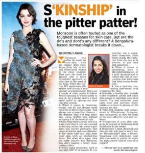 S'KINSHIP' in the pitter patter! - Deccan Chronicle , Bangalore Chronicle.