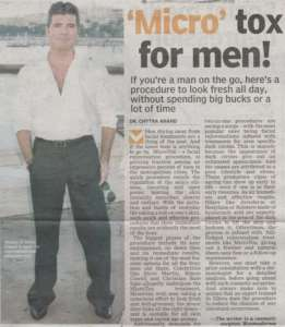 'Micro' tox for men - Deccan Chronicle , Bangalore Chronicle.