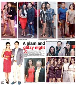 A glam and glitzy night- Deccan Chronicle , Bangalore Chronicle.