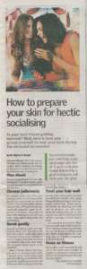 How to prepare your skin for hectic socialisting - The New Indian Express , City Express