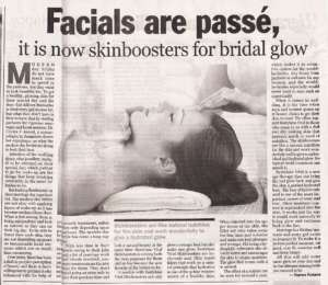 Facials are passe, it is skinboosters for bridal glow -  The New Indian Express