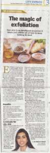 The Magic of exfoliation - The New Indian Express , City Express