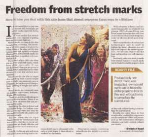 Freedom from stretch marks - The New Indian Express , City Express