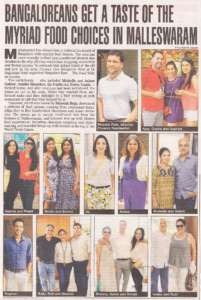Bangaloreans Get a taste of the Myriad food choices in Malleswaram - Deccan Chronicle , Bangalore Chronicle.
