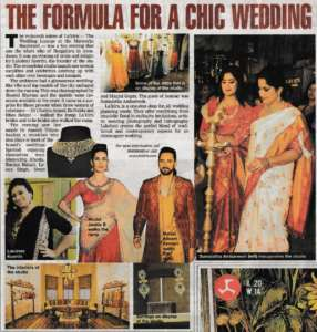 The Formula For A Chic Wedding - Times Of India