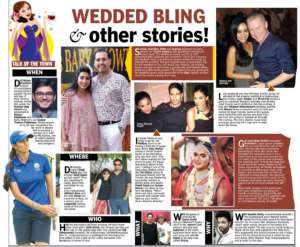 WEDDED BLING other strories! - Deccan Chronicle , Bangalore Chronicle.