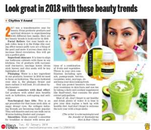 Look Great in 2018 with these beauty trends - New Indian Express