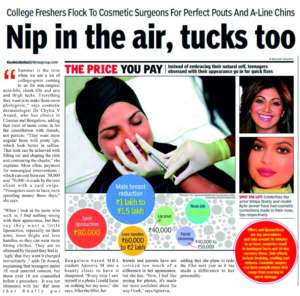 Nip in the air, tucks too. - Times Of India
