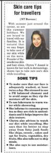 Skin Care Tips for Travellers, News Today
