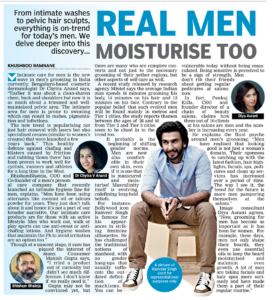 Real Men Moisturise Too, Deccan Chronicle , July 2019